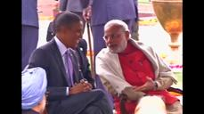 Indian President hosts 'At Home' ceremony for Obamas