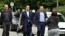 Tsipras enters Greece prime minister's office for first time
