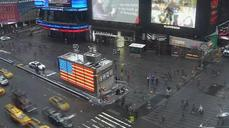 Time Lapse: Snow, frost piling up in New York's Times Square