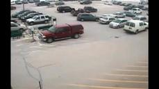 Driver hits nine cars in parking lot