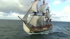 Life-size replica of American Revolution frigate rea