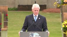 Bill Clinton honors Oklahoma City bombing victims on 20th anniversary