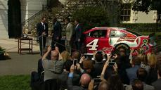 Obama honors NASCAR champ