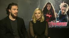 "Olsen, Taylor-Johnson say joining ""Avengers"" cast was ""daunting"""