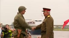 Historic handshake that marked ending of WWII in Europe re-enacted