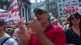 Thousands protest in Croatian capital over government handling of hard-hit debtors