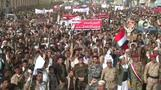 Houthi supporters call for end to Saudi-led airstrikes in Yemen