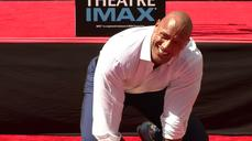 Dwayne Johnson gets immortalized in cement