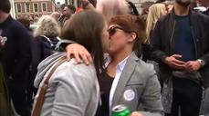 Joy on the streets of Dublin following 'yes' gay marriage vote