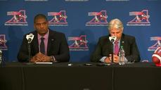 Openly gay football player Michael Sam introduced by Montreal Alouettes