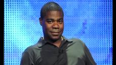 Tearful Tracy Morgan, recovering from crash, vows to return to comedy