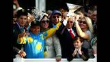 Fans celebrate new Triple Crown winner