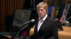 Robert Redford calls for global action on climate change