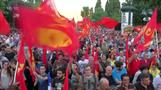 Thousands of Greek Communist Party supporters rally in Athens