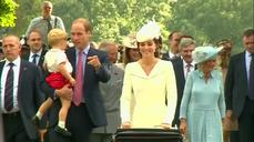 Friends, family depart after Princess Charlotte christening