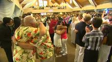 Texas church hosts mass gay wedding
