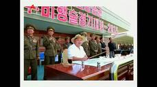 "North Korean leader inspects air force contest, part of ""war preparations"""
