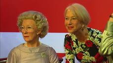 """Spot the fake!"" Mirren meets herself in triplicate wax works"