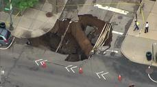 Massive sinkhole swallows Brooklyn intersection