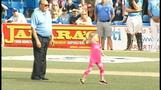 Sister of batboy throws out first pitch in brother's honor