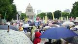 国会前で安保法案抗議デモ、12万人が参加か(字幕・30日)