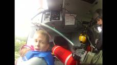 U.S. Coast Guard rescues mother, infant from floods