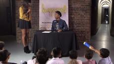Pharrell Williams holds a junior news conference