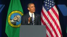Obama talks gun control in Seattle