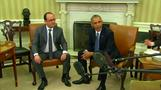 Obama meets French president at White House