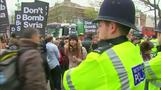 UK protesters march against possible Syria str