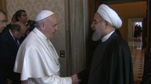 Pope asks Iran to work for Mideast peace, stop spread of terrorism