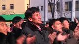 North Koreans welcome rocket launch