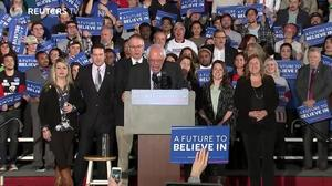 Sanders claims a win over Clinton