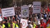 German workers rally over steel crisis