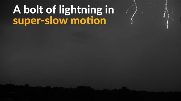Slow-motion camera captures awesome power of lightning bolts