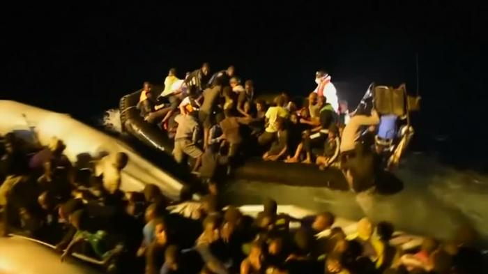 Aid worker describes chaos of night-time refugee rescue