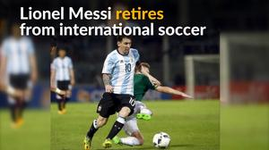 Messi retires from international play