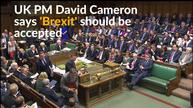 'Brexit' vote must be accepted -British PM Cameron
