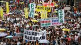 Hong Kong protests on handover holiday