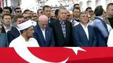 Erdogan attends funeral for victims of coup attempt