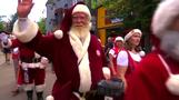 See how Santa spends his summer