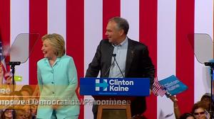 Kaine tells Clinton we'll be