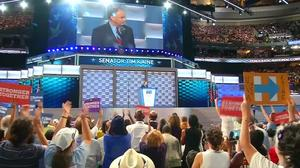 Democrats welcome Kaine nomination