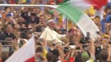 Pope Francis greeted by World Youth Day masses in Krakow