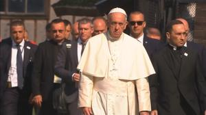 Pope, at Auschwitz, asks God to forgive 'so much cruelty'