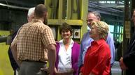 Clinton, Kaine visit Pennsylvania factory