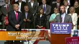 Brexit campaigner Farage backs Trump at rally