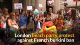 London beach party supports burkini