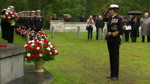 Princess Anne pays tribute to WW2 Arctic Convoy veterans