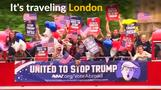 'Stop Trump' bus in London urges ex-pats to vote